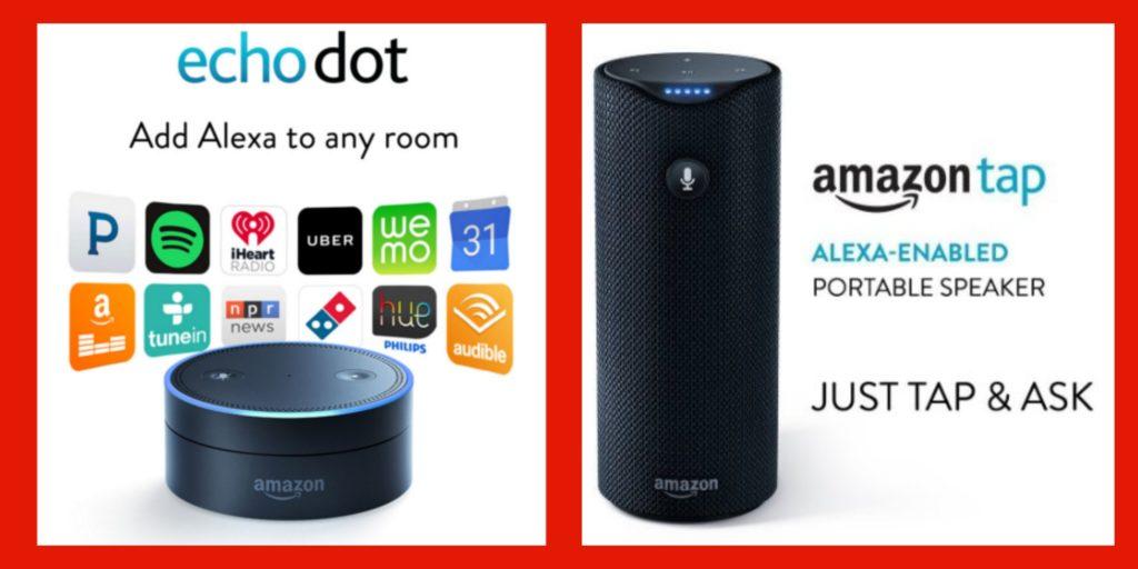 Amazon Echo Dot Amazon Tap