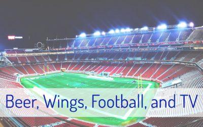 Beer, Wings, Football, and TV